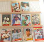 Click here to enlarge image and see more about item SP0019: 1980s Topps Leaf Fleer Boston Red Sox Trading Cards SP0019