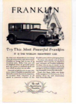 Franklin Motor Car Ad 1927