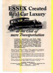Click here to enlarge image and see more about item t0009: Essex Motor Car Ad 1927 t0009