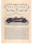 Click here to enlarge image and see more about item t0014: Lincoln V-12 Sport Phaeton Ad 1932