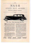 Nash Motor Car  Ad 1932