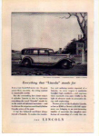 Click here to enlarge image and see more about item t0016: Lincoln V-8 Motor Car  Ad t0016 1932