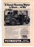 Click here to enlarge image and see more about item t0020: Plymouth  Ad t0020 1936