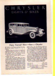 Click here to enlarge image and see more about item t0022: Chrysler   Ad 1931