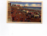 Click here to enlarge image and see more about item t0026: Atlantic City NJ Boardwalk Postcard t0026