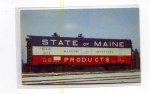 Click here to enlarge image and see more about item t0062: Bangor and Aroostook Boxcar Postcard t0062