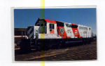 Click here to enlarge image and see more about item t0063: Burlington Northern Locomotive Postcard t0063