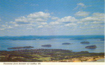 Click here to enlarge image and see more about item t0147: View From Cadillac Mountain  Postcard