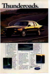 Click here to enlarge image and see more about item tbird01: Thunderbird Thunderoads Ad tbird01