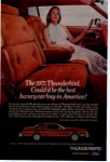 Click here to enlarge image and see more about item tbird03: 1975 Thunderbird Ad