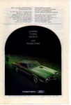 Click here to enlarge image and see more about item tbird07: 1970 Thunderbird Ad Green