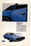 Click here to enlarge image and see more about item tbird10: 1967 Four Door Thunderbird Ad Blue