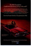 Click here to enlarge image and see more about item tbird11: 1976 Thunderbird Bordeaux Ad