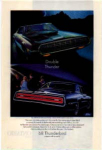 Click here to enlarge image and see more about item tbird15: 1968 Thunderbird Ad Double Thunder
