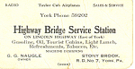 Click to view larger image of Highway Bridge Service Station Trade  Card tc0007 (Image1)