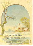 Click here to enlarge image and see more about item tc0012: M Meyer Clothing House Trade  Card tc0012
