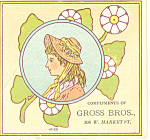 Click here to enlarge image and see more about item tc0043: Ladies Childrens Clothing Store Trade Card tc0043