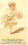 George Miller Confectionery Trade Card tc0068