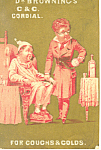 Dr Browning's Cough Medicine Trade Card