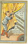 Click to view larger image of Clothing Store Victorian Trade Card tc0076 (Image1)