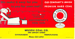 Milson Coal Co Advertising Blotter Catasauqua PA tc0093
