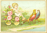 General Store Easter Victorian Trade Card tc0103