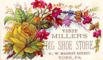 Miller s Big Shoe Store Trade Card tc0120