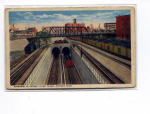 Click here to enlarge image and see more about item u0024: Detroit River Tunnel  Postcard