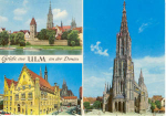 Ulm Germany Multiview Postcard u0075