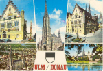 Ulm Donau Germany  Multi View Postcard u0103