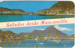 Click here to enlarge image and see more about item u0129: Manzanillo Bay Mexico Postcard