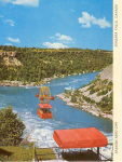 Click here to enlarge image and see more about item v0093: Spanish Aero Car Niagara Falls Postcard
