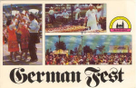 Click here to enlarge image and see more about item v0099: German Fest Milwaukee WI Postcard