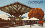 Click here to enlarge image and see more about item v0109: Expo 67 Canada s Pavilion Postcard v0109