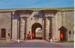 Quebec's Sentry Post La Citadelle  Postcard