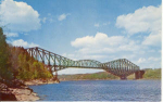 Click here to enlarge image and see more about item v0113: The Quebec Bridge  Canada Postcard v0113