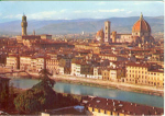 Firenze Italy Panorama View Postcard v0133