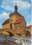 Click here to enlarge image and see more about item v0176: Old City Hall Bamberg Austria  Postcard v0176