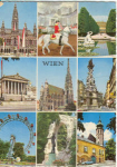 Click here to enlarge image and see more about item v0190: Vienna Austria Multiview Postcard