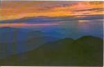 Click here to enlarge image and see more about item v0226: Great Smokey Mts Sunset Postcard