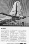 Click here to enlarge image and see more about item w0012: Boeing B 29 Skyscraper Ad w0012