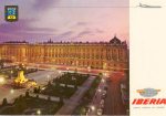Click here to enlarge image and see more about item w0031: Iberia Airline Postcard Madrid Palacio Real
