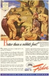 Click here to enlarge image and see more about item w0068: General Motors WWII Sherman Tank Ad w0068