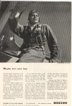 Click here to enlarge image and see more about item w0137: Boeing WWII Kaydet Trainer Ad w0137