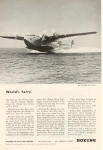 Click here to enlarge image and see more about item w0166: Boeing WWII Clipper Ad w0166