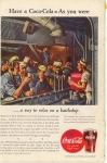 Coca Cola  Ad Feb 1944 Battleship