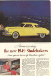 Click here to enlarge image and see more about item w0360: 1949 Studebaker Commander Advertisement w0360