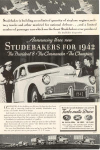 Click here to enlarge image and see more about item w0363: 1942 Studebaker  Advertisement