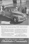 Click here to enlarge image and see more about item w0364: 1942 Studebaker Commander Advertisement