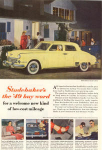 Click here to enlarge image and see more about item w0366: 1949 Studebaker Land Cruiser Advertisement